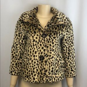 American Rag Cie M Animal Print Jacket Cheetah